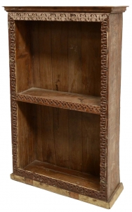 Rustic bookcase, solid wood, colonial style, India