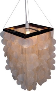 Ceiling lamp / ceiling lamp Sabah, shell lamp made of hundreds of..