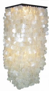 Ceiling lamp / ceiling lamp Sabah XL, shell lamp made of hundreds..