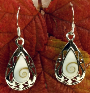 Silver earrings with `Shiva