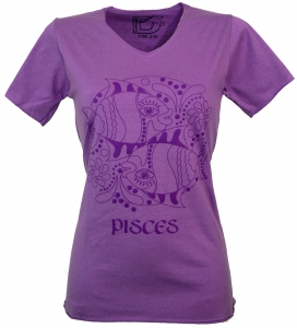 Star sign T-Shirt `Fish` - purple