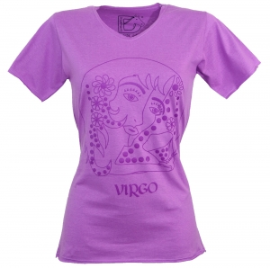 Star sign T-Shirt `Jungfrau` - purple