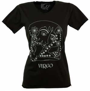 Star sign T-Shirt `Jungfrau` - black