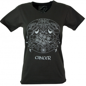 Star sign T-Shirt `Cancer` - black