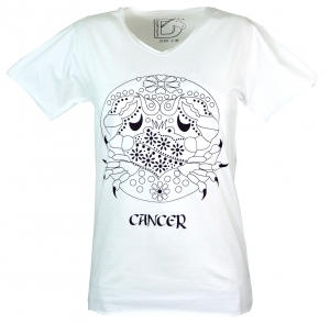 Star sign T-Shirt `Cancer` - white