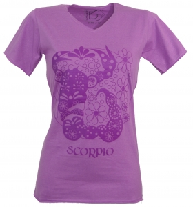 Star sign T-Shirt `Skorpion` - purple