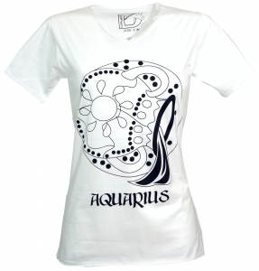 Star sign T-Shirt `Water man` - white