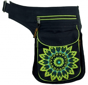 Fabric Sidebag Belt Bag Mandala, Goa Belt Bag, Belly Bag - lemon