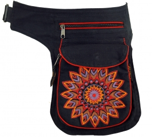 Fabric Sidebag Belt Bag Mandala, Goa Belt Bag, Belly Bag - red
