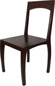 Chair with curved legs