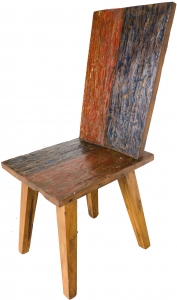 Chair made of recycled teak - model 9