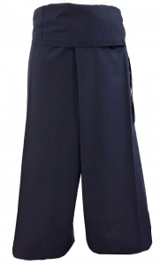 Thai cotton fishing pants, wrap pants, yoga pants - navy blue
