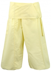 Thai cotton fishing pants, wrap pants, yoga pants - natural white
