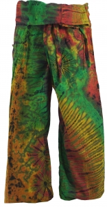Thai Fisherman Pants Batik - green/coloured