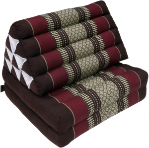 Thai pillow, triangle pillow, kapok, day bed with 2 pads - brown/..
