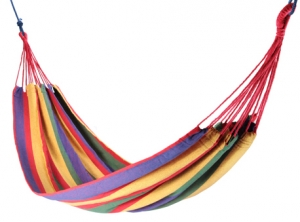 Outdoor hammock, 200x150cm, 1-2 persons, multicolour