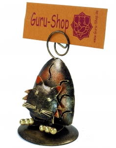 Business card holder, photo holder `Cat` - 10x6x6 cm