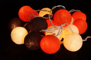 Fabric Ball Light Chain LED Ball Lampion Light Chain - Summer Col..