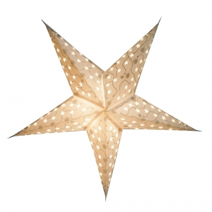 Foldable Advent Paper Star, Christmas Star Luna - white