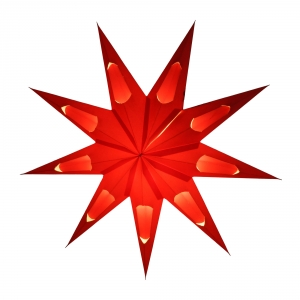 Foldable Advent Paper Star, Christmas Star Aquarius