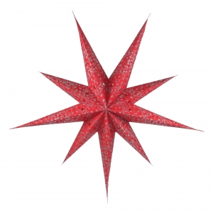 Foldable Advent Paper Star, Poinsettia Fiore