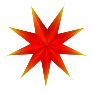 Foldable Advent Paper Star, Poinsettia Orion - red