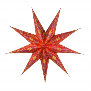 Foldable Advent Paper Star, Poinsettia Stella - red