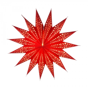Foldable Advent Paper Star, Christmas Star Aristea - red