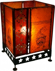 Leather lamp - Saree table lamp / table lamp Chennai