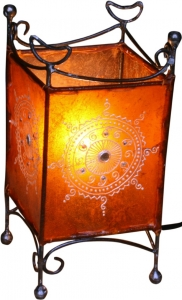 Henna - Leather table lamp / table lamp Madras