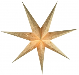Foldable Advent Paper Star, Christmas Star Raja - nature