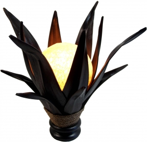 Palm leaf Lotus table lamp/table lamp, in Bali handmade from natu..