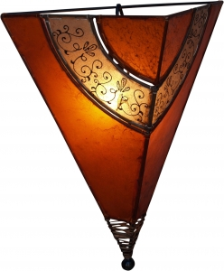 Henna - Leather wall lamp `Venus oriental`