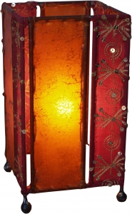 Leather - Saree Table lamp / Table lamp Mandalay