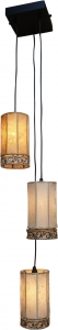 Henna - Leather ceiling lamp / pendant 3-lamp, Bengalia