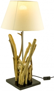 Table lamp Bromea, in Bali handmade unique piece of natural mater..