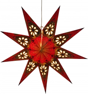 Foldable Advent Paper Star, Poinsettia Feanor