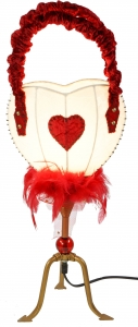 Table lamp Kokopelli Heart bag H1098w
