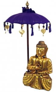 Ceremonial Umbrella, Asian Decorative Umbrella medium - violet