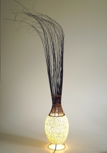 Table lamp/table lamp Limura - in Bali handmade from natural mate..