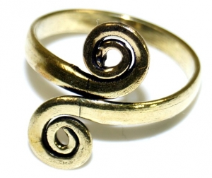 Toe ring made of brass, Goaschmuck - gold