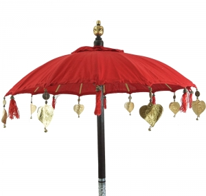 Ceremonial Umbrella, Asian Decorative Umbrella - red