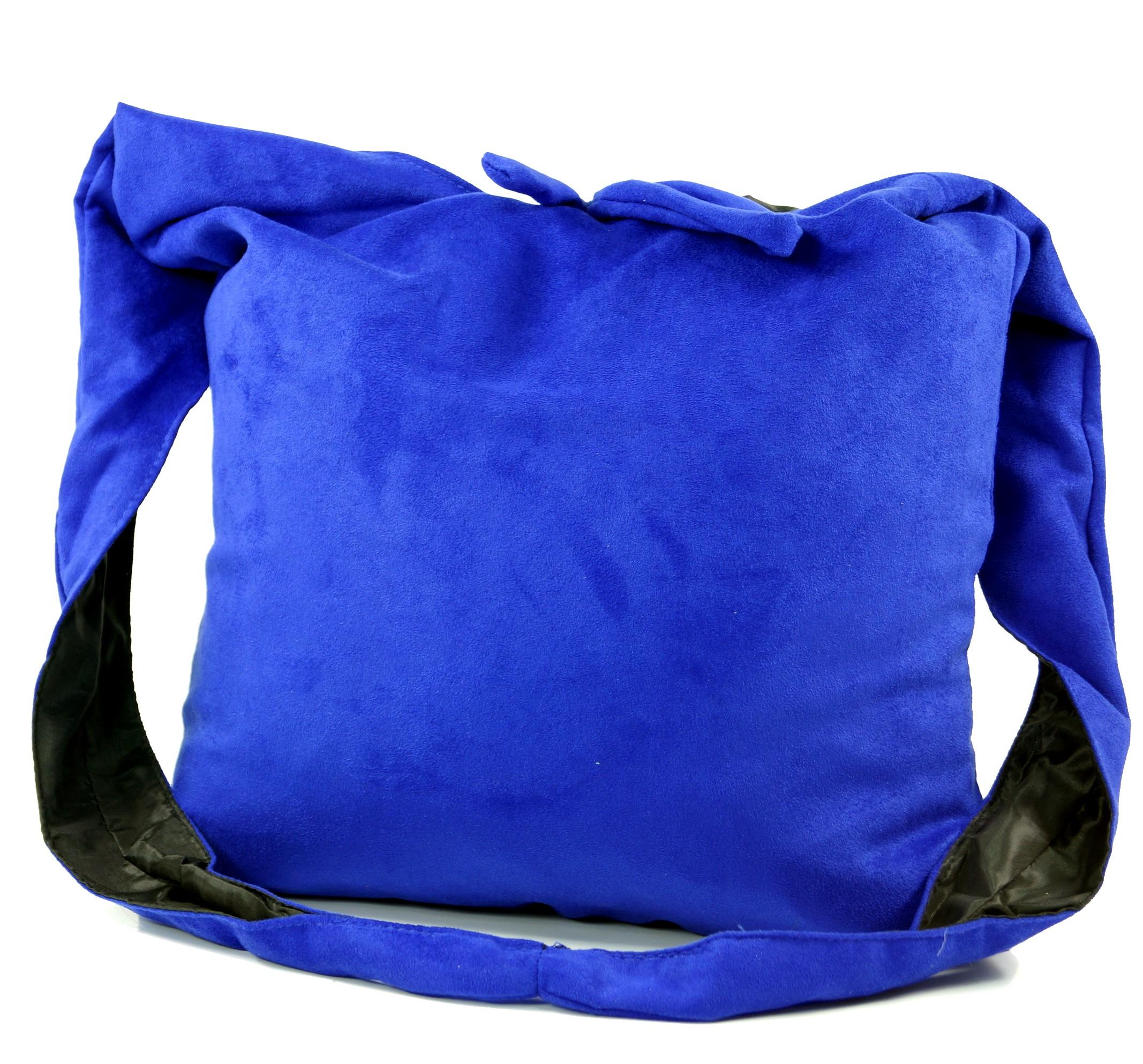 Sadhu Bag Peace Hippie Tasche, Goa Schulterbeutel blau 30x35x20 cm