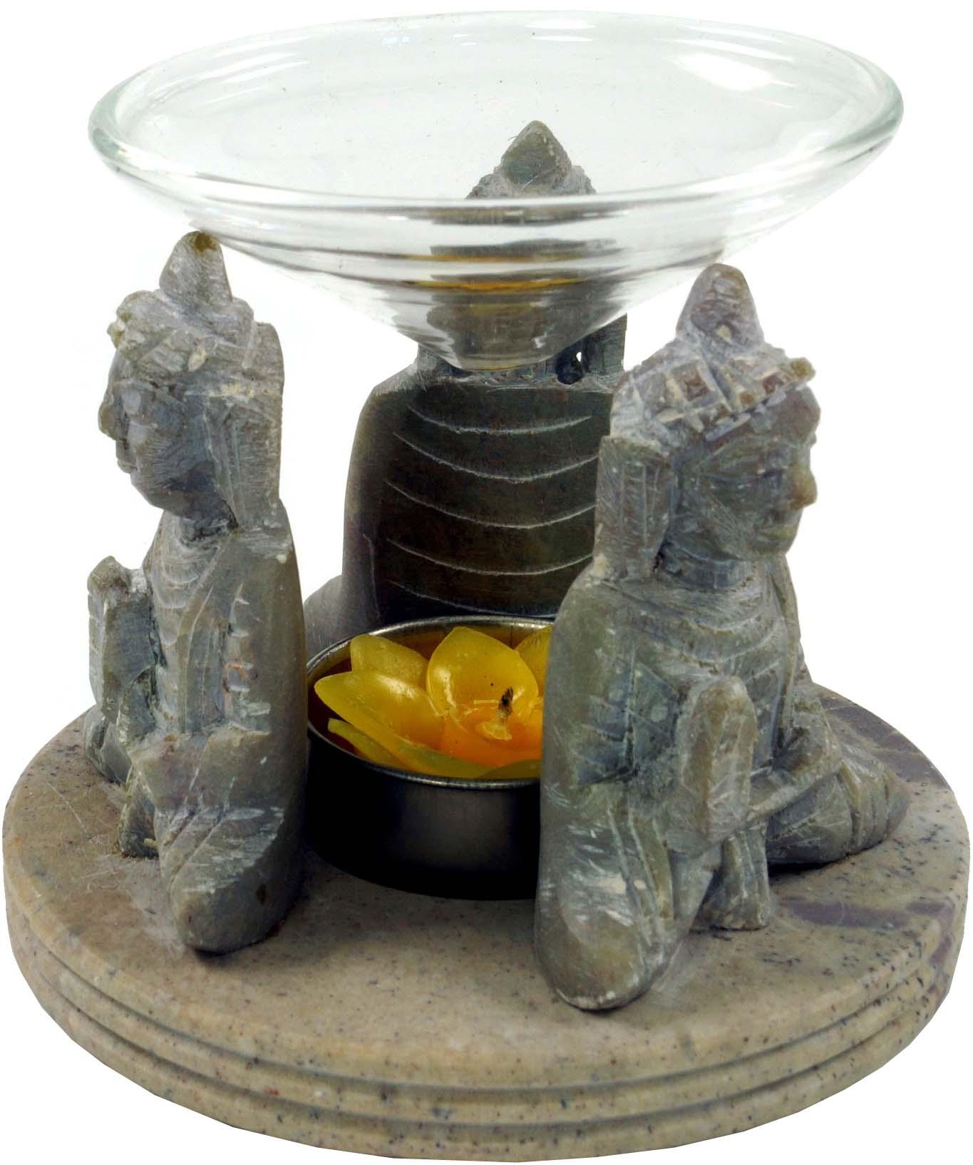 """Buddha Teelicht-Halter Speckstein /""""Buddha/"""""""