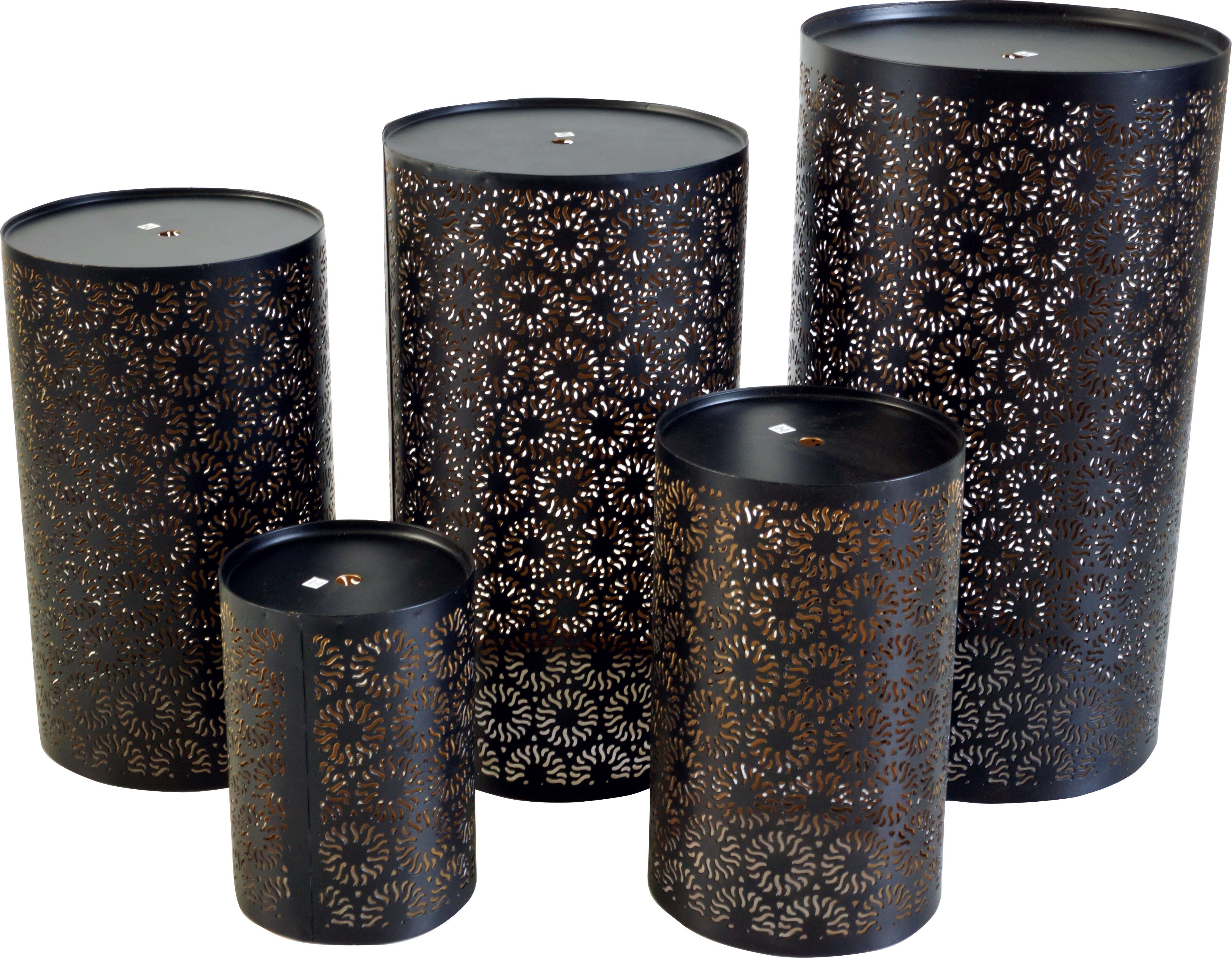 Runde Metall Windlicht Leuchte Passend Fur Teelicht Kerzen Oder Als