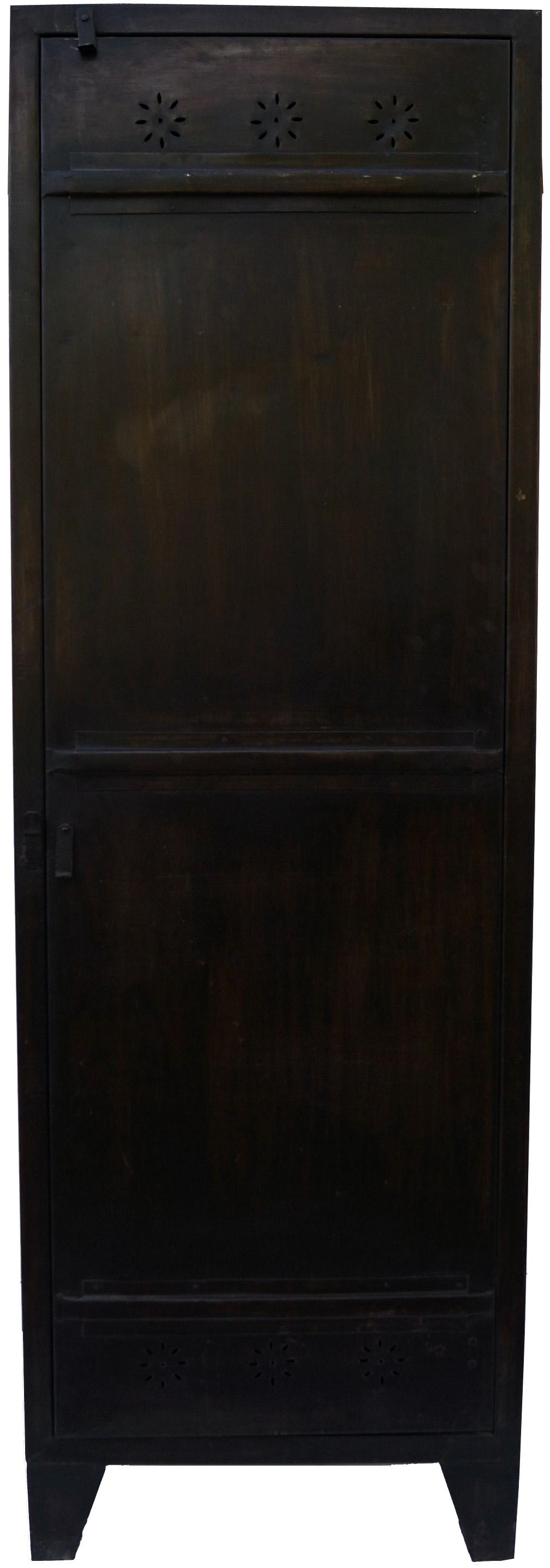Metall Schrank Vintage Design 184x60x51 Cm