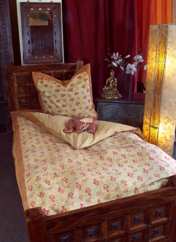Möbel & Wohnen Bettwäsche Handbedruckte Blockdruck Bettwäsche Aus Baumwolle