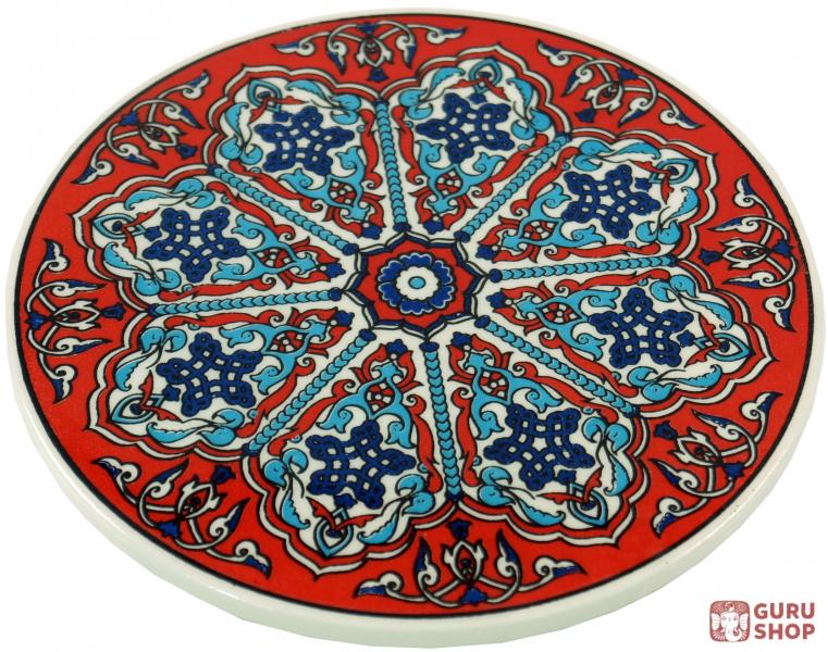 orientalischer keramikuntersetzer runder untersetzer f r gl ser und tassen mit mandala motiv. Black Bedroom Furniture Sets. Home Design Ideas