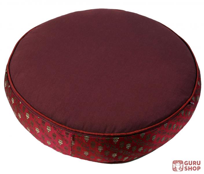 orientalisches rundes patchwork kissen 50 cm sitzkissen bodenkissen mit baumwollf llung rot. Black Bedroom Furniture Sets. Home Design Ideas