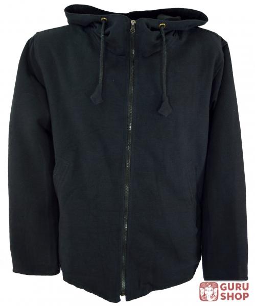 Goa Jacket, Ethno Hooded Jacket Flower of Life - black